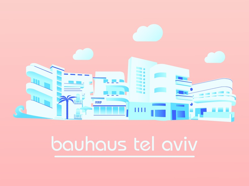 TelAviv  Bauhaus style street