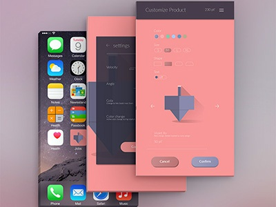 Daily UI Challenge App Mockup mobile app icon customize product daily ui 33 daily ui 007 daily ui 005 daily ui settings mobile app dreidel app  design dailyuichallenge