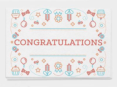 Cards 02 happiness postcard congratulations vector print illustration icons set greetingcard card