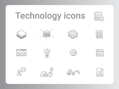 Technology Icons dailyui 055 055 ui icons icon set technology technology icons dailyuichallenge vector daily ui high tech illustration