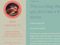 Blog layout draft