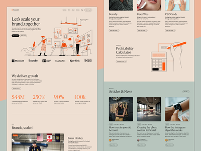 Lilo Social Website Look & Feel grid cta orange illustration stats blog uiux landingpage landing desktop hero website