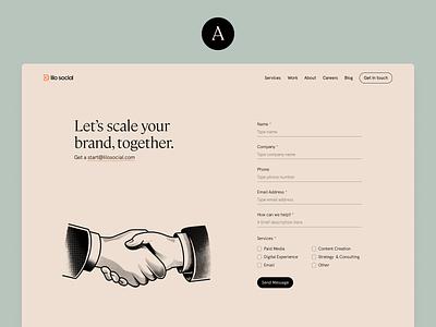 A or B? hero significa fonts apercu mabry cambon desktop website illustration form contacts