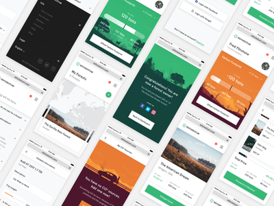 Reforestum Mobile Grid! empty gallery dashboard footer apercu forest orange responsive green significa ui mobile