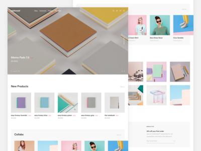 Mishmash Landing Page grid color clean store circular mishmash significa landing desktop