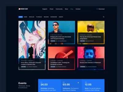 Rocket.Chat Blog blue color desktop sf significa grid dark blog