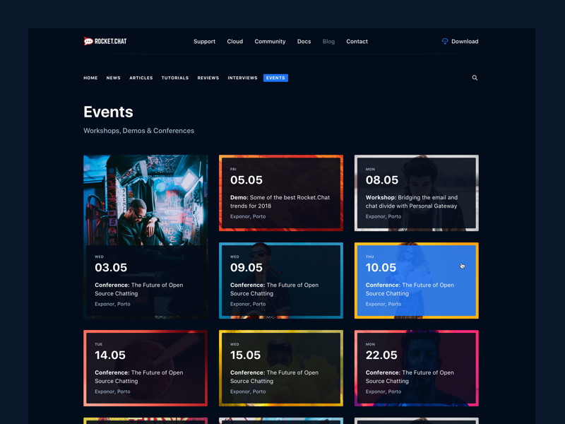 Sf Events Calendar.Events Calendar By Pedro Et For Significa On Dribbble