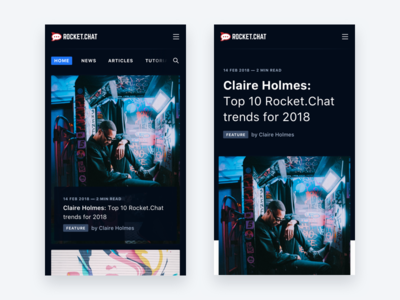 Rocket.Chat Blog Mobile ios significa interface dark sf article blog mobile