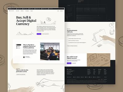 Vertbase Landing Page significa crypto illustration hero webdesign website landing page