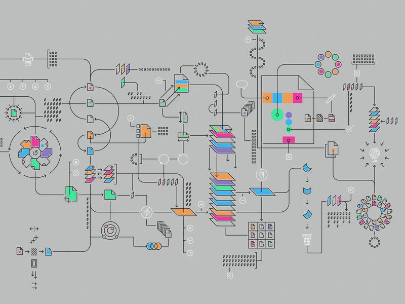 Adobe Acrobat vector design illustration