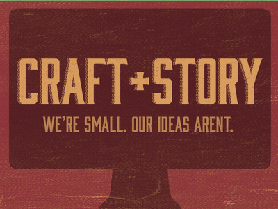 Craft+Story Banner bourbon