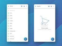 Shopping list — list screens