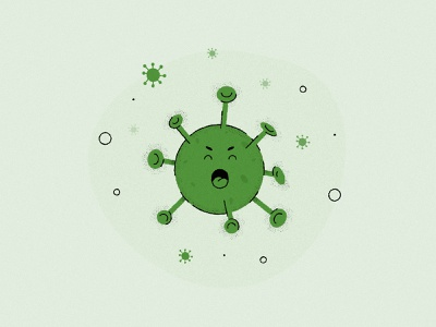 They're comin' - Covid colour character vector design illustration grainy flat color texture grain texture grain viruses virus isolation covid-19 covid19