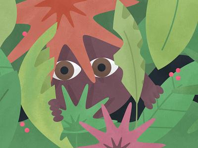 Child Development -Peek-A-Boo! green leaf nature forest mature baby social social skills games peekaboo parenting child development character color vector grain texture design colour illustration