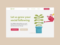 Leaf - Website landing page