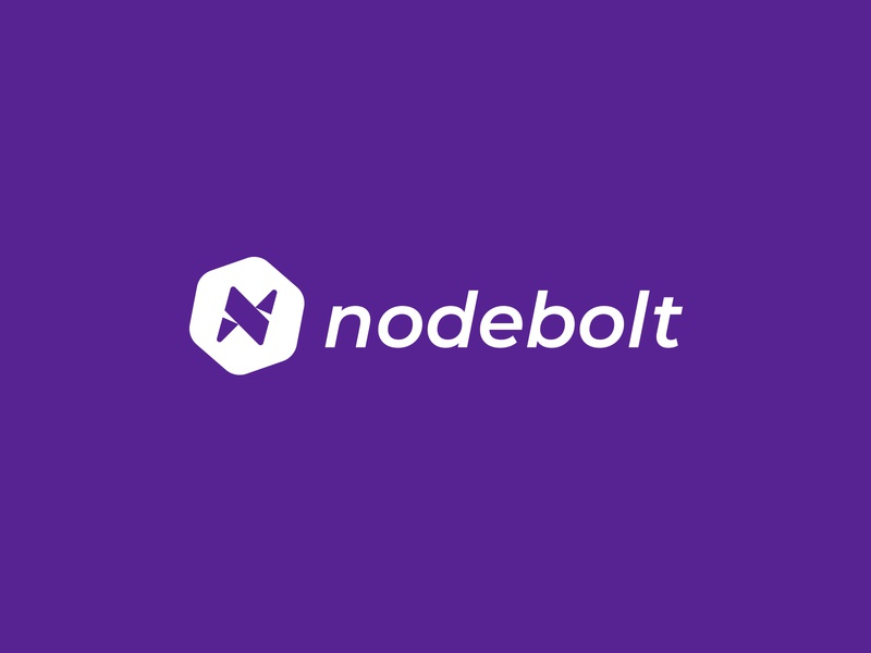 Nodebolt - Logo Design design branding identity design type shipping port illustration software icon lightning bolt logo logo design