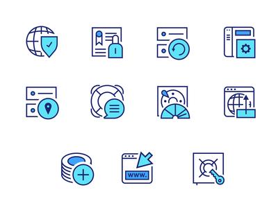 Hosting company - Icon set