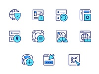 Hosting company - Icon set