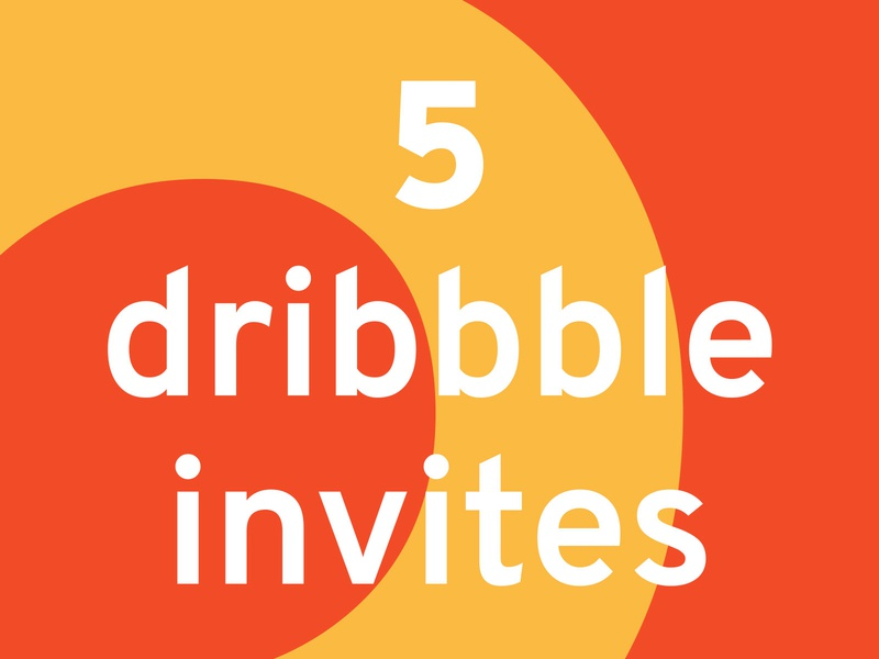 5 Dribbble Invitations invites invite dribbble best shot draft players dribbble loud bold type overpass colour dribbble invite invitation dribbble debut dribbble draft dribbble player