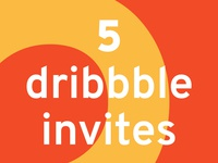 5 Dribbble Invitations