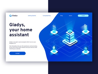 Gladys - Landing page