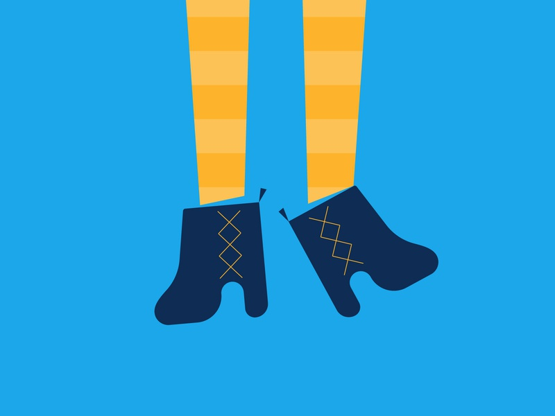 Camden Style - Illustration london camden color tights boots flat illustration style human clothes