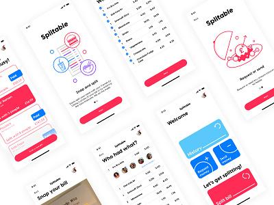 Bill Splitting - Concept App illustration ui screens food bills app
