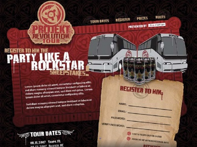 Live Nation/Linkin Park  projekt revolution sweepstakes rockstar linkin park live nation