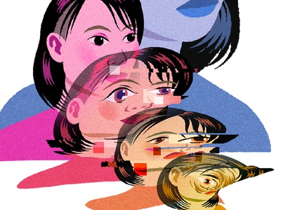 SIMULACRA #WIP lowbrowart anime 2d art design toronto illustrator toronto jenn liv illustration