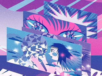 Here For You comic art cartoon manga toronto artist art design art design risograph illustration digital limited color palette limited palette limited color illustration art illustration