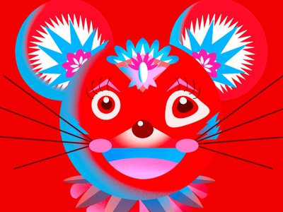 Year of the Rat chinese zodiac lunarnewyear chinese new year year of the rat toronto illustrator limited palette limited color palette limited color toronto jenn liv illustration