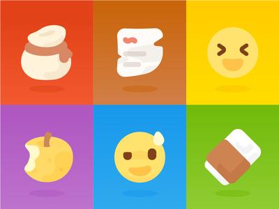 Icon / Emoji for OnionMath Communication (2D) flat app mono lovely cute onionmath game icon