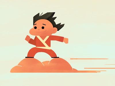 Son Goku procreate video games character design dragonball goku art digital art design illustration