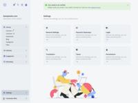 SAAS Dashboard Concept flat app web ui dashboard