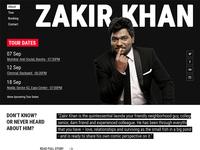 Zakir Khan: Standup Comedian Website