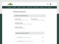 Booking Confirmation Page