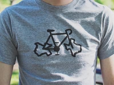 Texas Bike shirt screenprinting bike texas icon