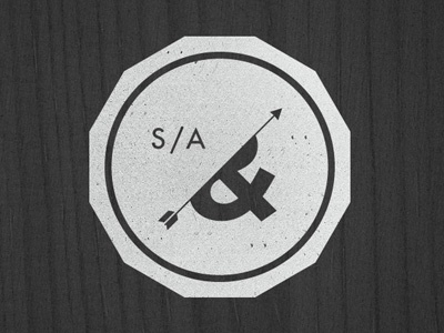 S/A logo identity typography