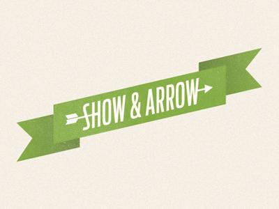Show & Arrow logo identity typography web