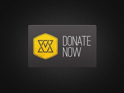 Donate Now web layout typography button