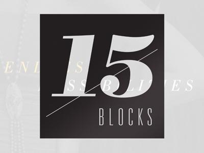 15 Blocks print typography finishing