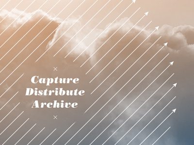 Capture/Distribute/Archive print typography annual report