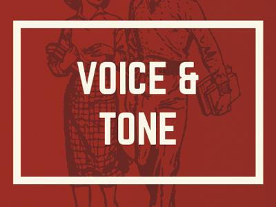 Voice & Tone typography copy branding print