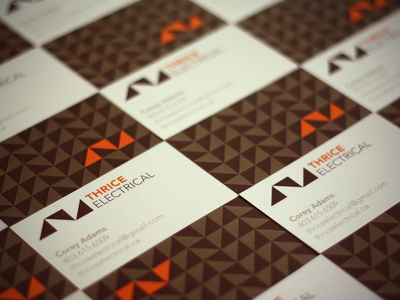 Thrice Electrical Business Cards
