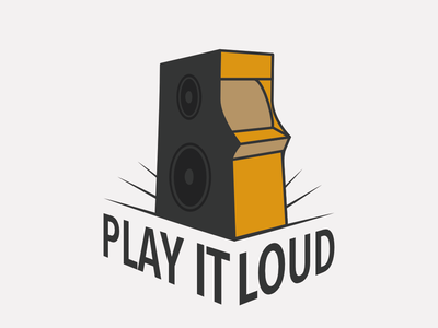 Play it Loud Logo branding vector logo