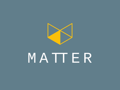 Matter Logo illustration logo branding