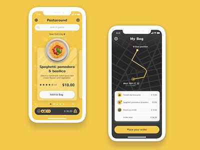 Pastaround app figma design ui vector