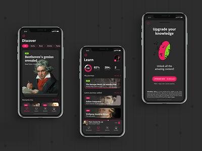 Classical Music Journey App sketchapp sketch vector design app ui
