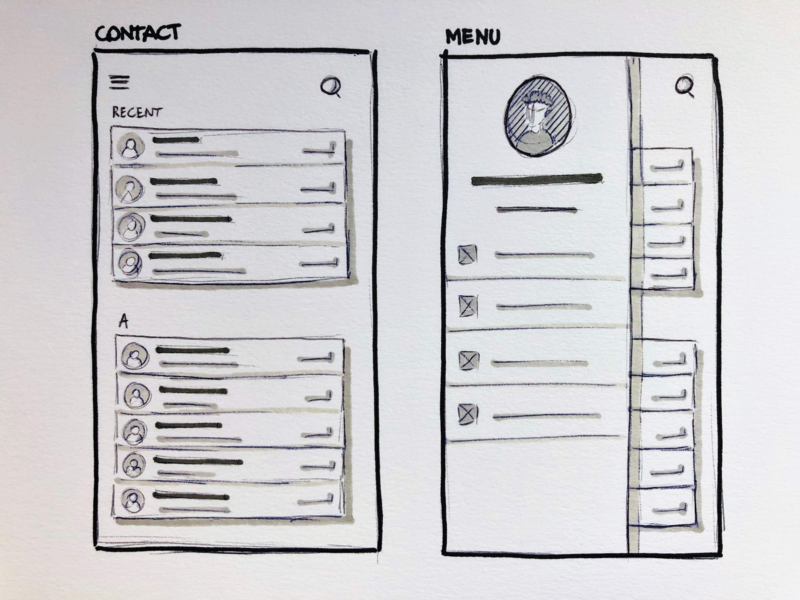 Sketching in grayscale ux design