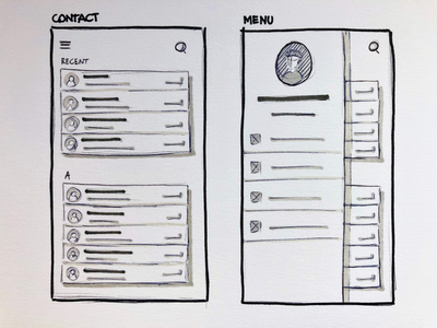 Sketching in grayscale sketching ux design